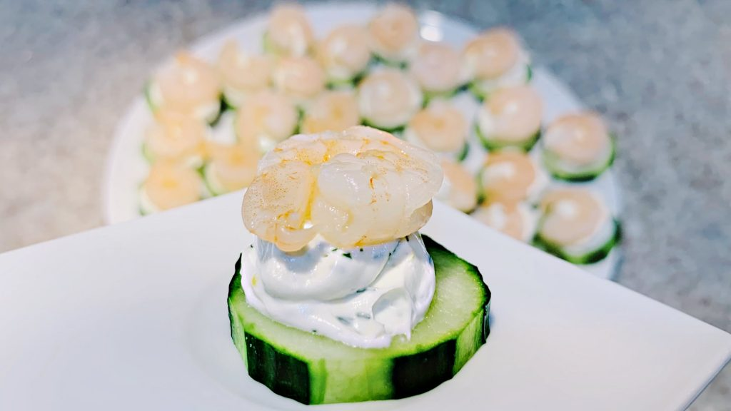 Shrimp and Cucumber Make Ahead Appetizer
