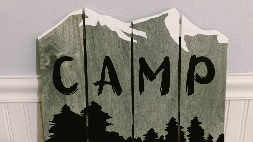 Camp Mountain Wall Art