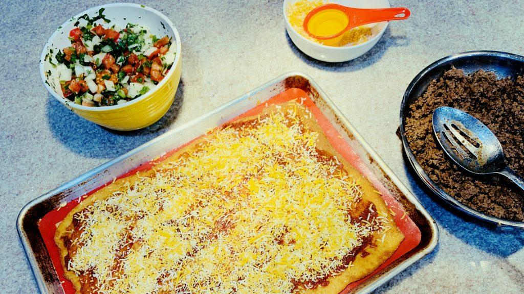 Fiestada Pizza with Almond Flour Crust