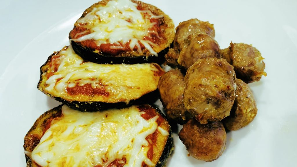 Baked Eggplant Parmesan with Sausage