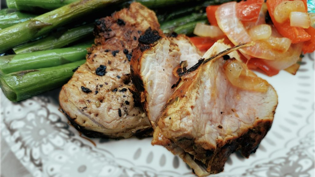 Grilled Pork Tenderloin Slices