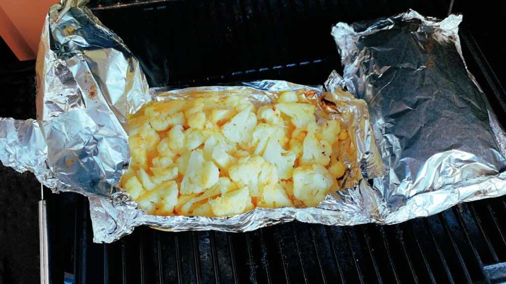 Cauliflower Foil Packet on Grill