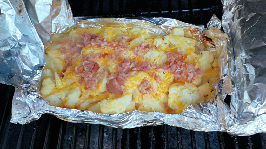 Cheesy Bacon Cauliflower Foil Packet