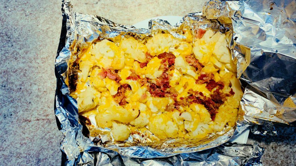 Loaded Cauliflower Keto Foil Packet