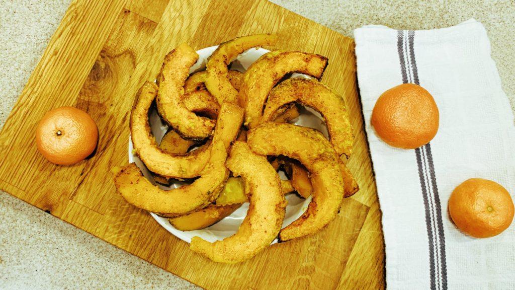Roasted Orange Kabocha Squash with Cinnamon