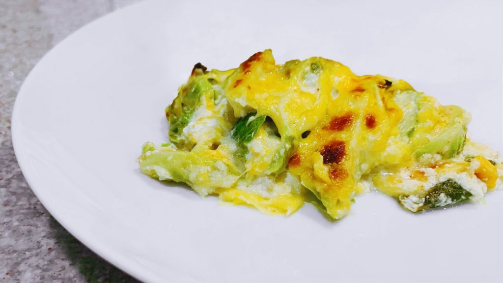 Brussels Sprouts Au Gratin with Almond Flour