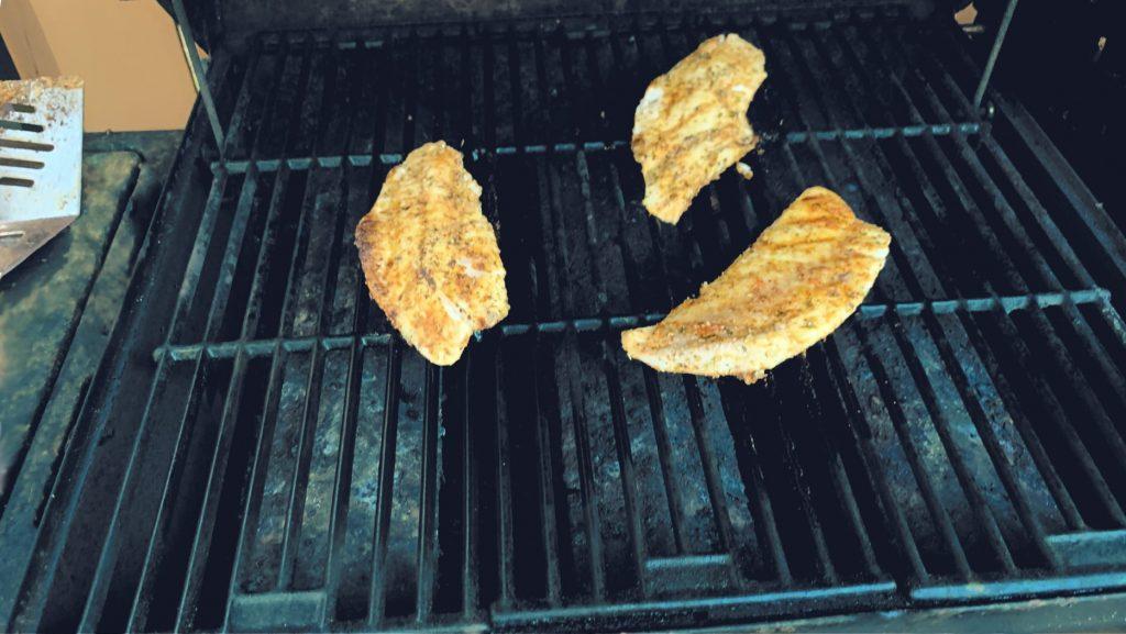 Grilled Rockfish Fillets