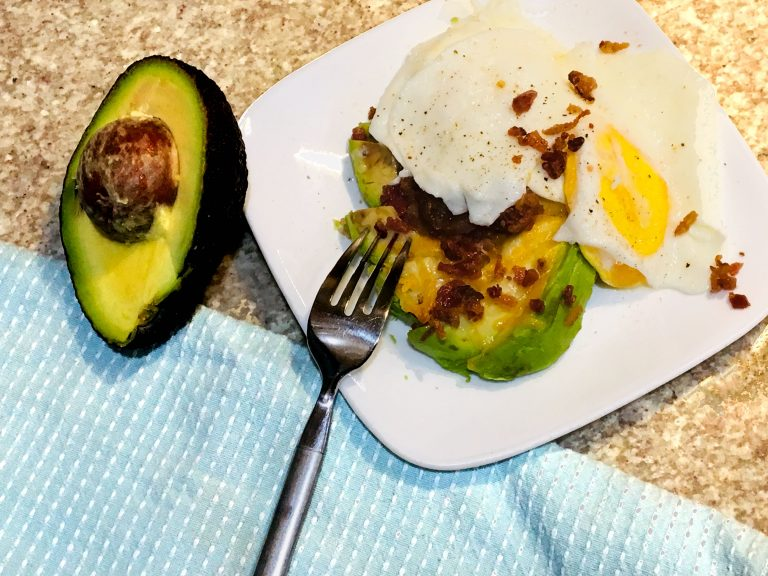 Eggs with Avocado and Bacon