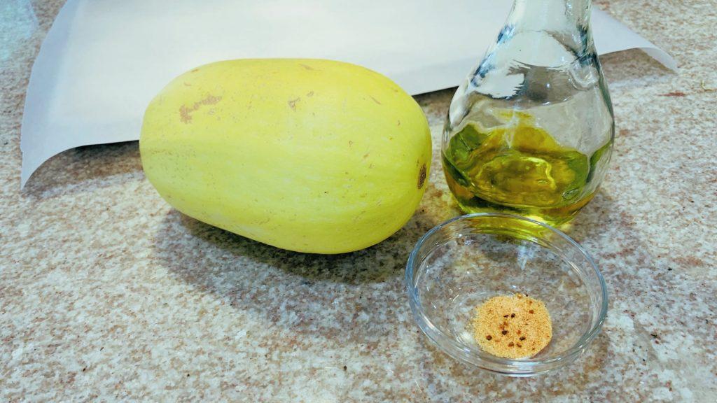 Spaghetti Squash, Season Salt, Olive Oil