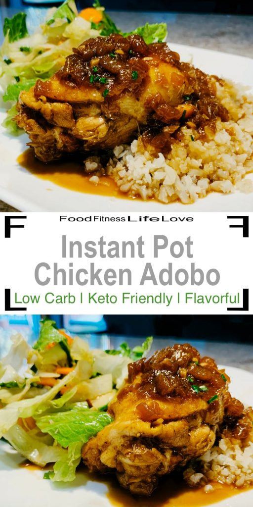 Instant Pot Chicken Adobo Pin
