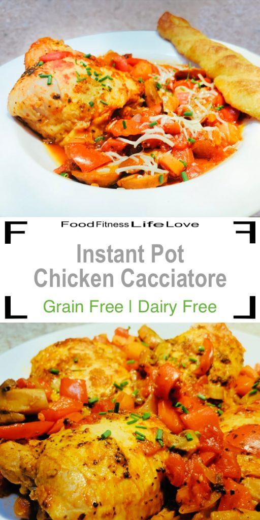 Instant Pot Chicken Cacciatore Pin