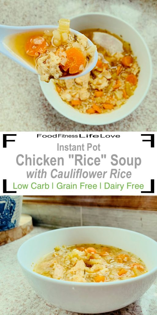 Instant Pot Chicken Rice Soup Pin