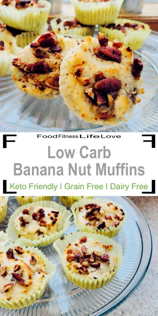 Low Carb Banana Muffins Pin