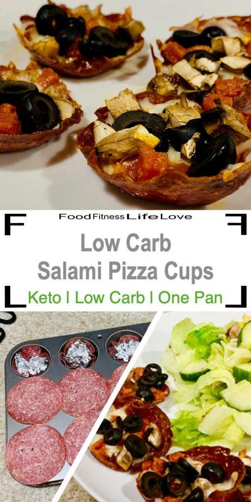 Low Carb Salami Pizza Cup Pin