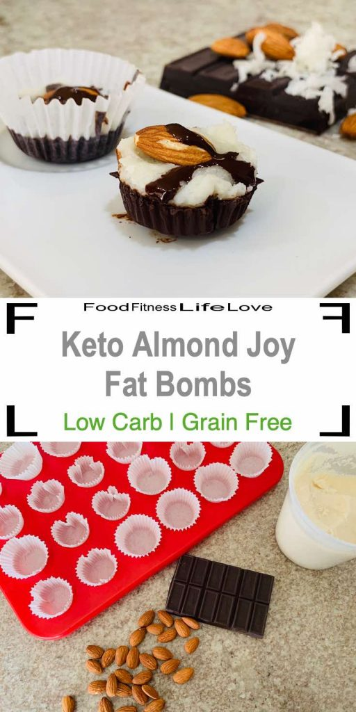 Keto Almond Joy Fat Bomb Pin