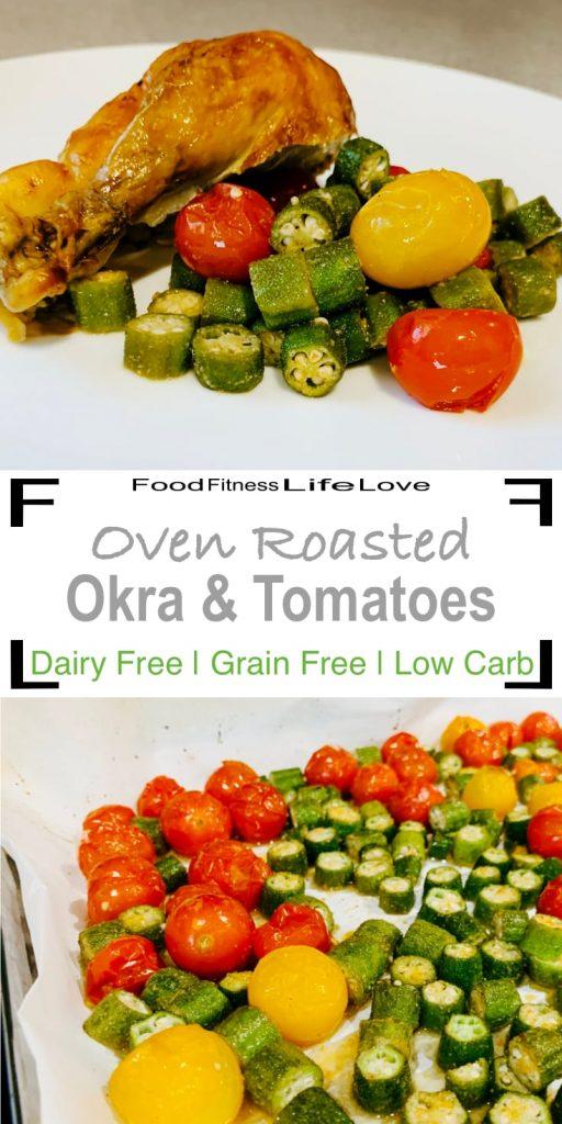 Okra and Tomato Recipe Pin