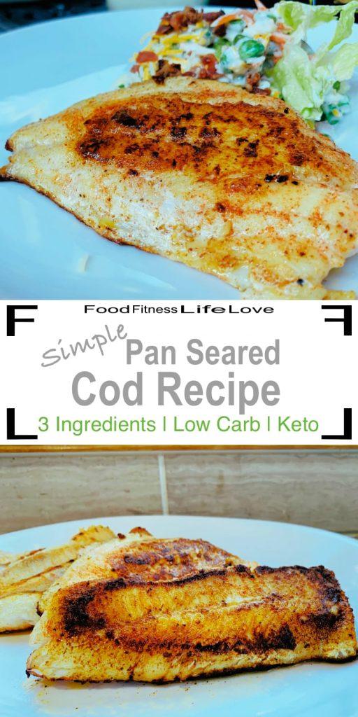 Pan Seared Cod Recipe Pin