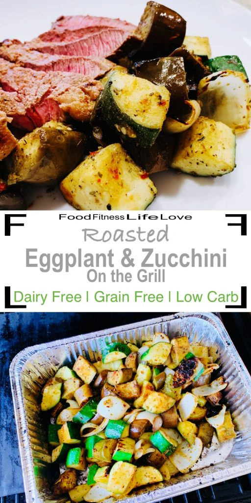 Roasting Eggplant and Zucchini Pin