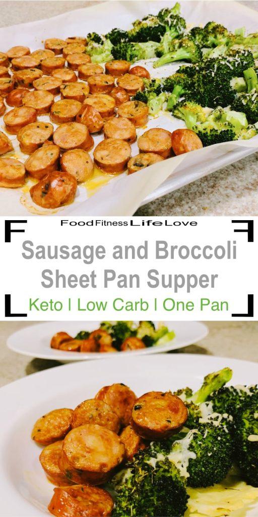 Sausage and Broccoli Sheet Pan Supper Pin