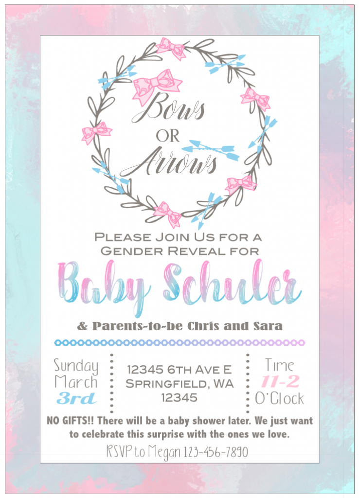 Bows or Arrows Gender Reveal Invitation
