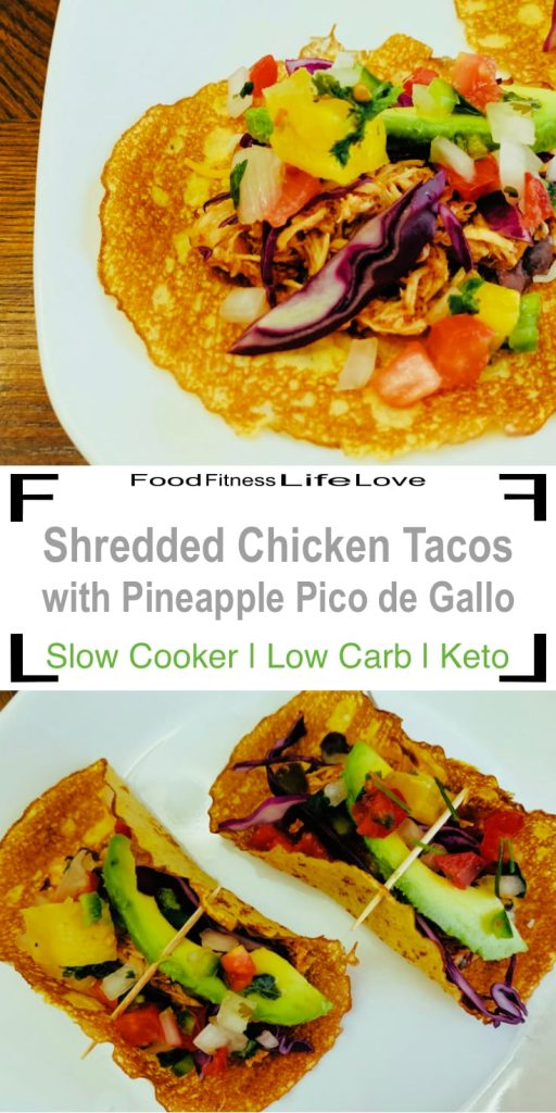 Slow Cooker Shredded Chicken Tacos Pin