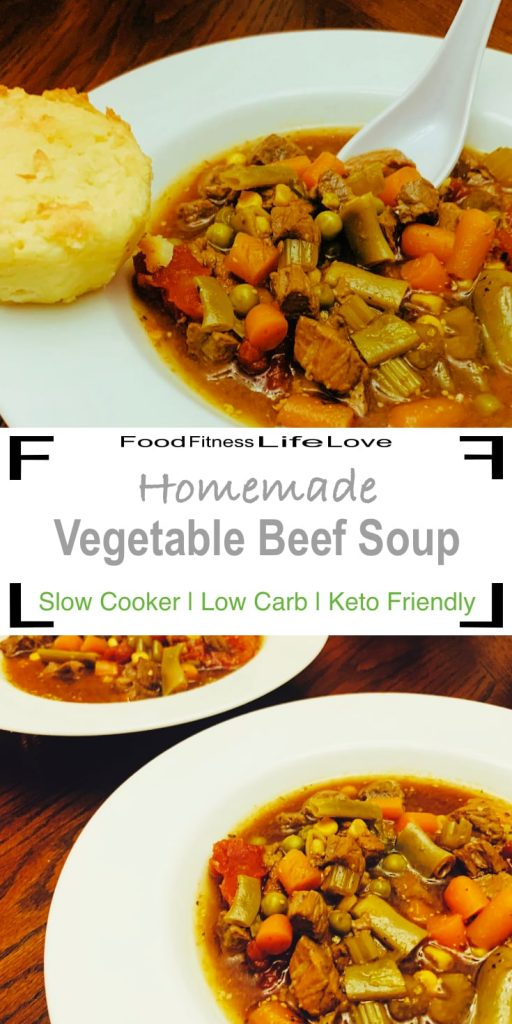 Slow Cooker Vegetable Beef Soup Pin