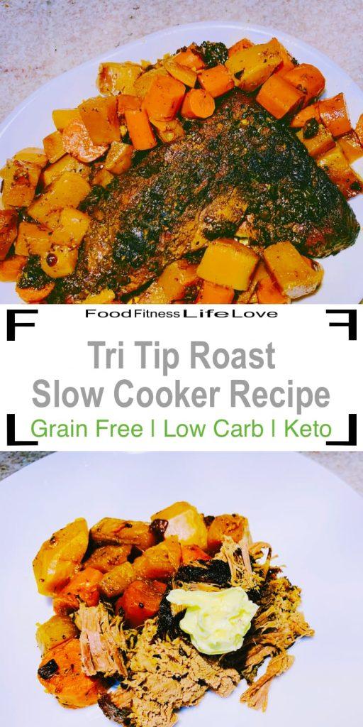 Tri Tip Roast Slow Cooker Recipe Pin