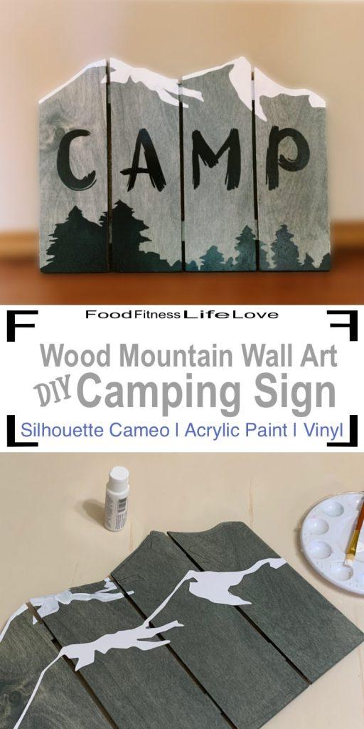 Wood Mountain Wall Art Pin